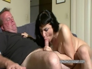 Busty MILF Claudine rides a cock and gets a big facial free