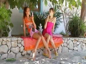 mature russian lesbian and young girl