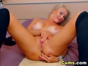 Most Beautiful Tight Pink Pussy Blonde HD