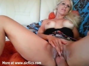 Hot blond milf fist fucked in her bald cunt till she orgasms free