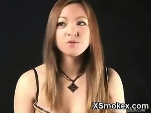 hot smoking naked pussy