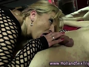 Real euro hooker sucks and tugs