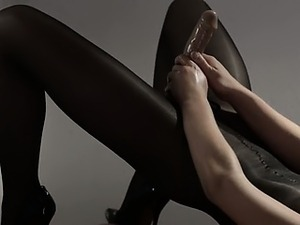 closeup nylon feet videos