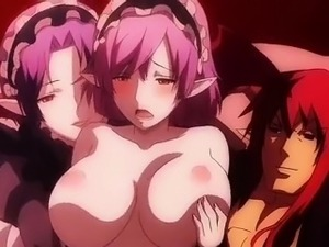 Incredible fantasy anime clip with uncensored big tits,
