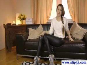 black leather miniskirt wife