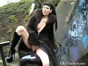 young goth girl blowjob in group