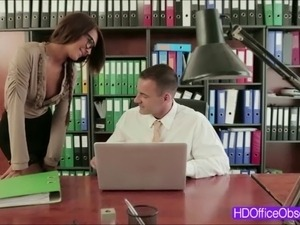 Hot Brunette Alexis Brill gets tight pussy fuck in her