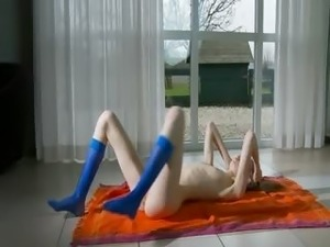 naked teen in socks