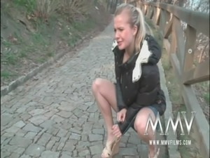 MMV Films German teen gets picked up and fucked free