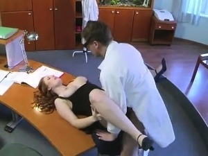 lesbian doctor licks pussy