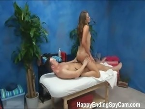 Our hidden spy cameras caught Allie the massage therapist giving more than a...