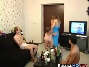 Russian Teens In A Threesome
