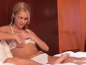 petite blonde with big tits anal