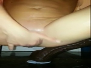 HORNY WIFE FUCKS HUGE DILDOS AND BOTTLE free