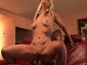 Blonde lesbians eat each other out