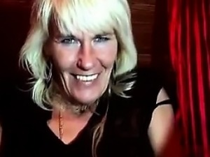 Blonde Granny Shows Of Her Hairy Pussy