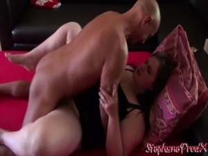 French girl having sex