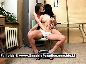 Ashlie and Marianne from sapphic erotica lesbo girls undressing