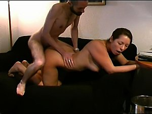 Horny Amateur Slut Fucking Big Dick On Couch