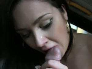 tattooed amateur banged in british fake taxi