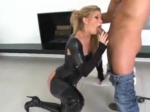 Big ass in leather pants