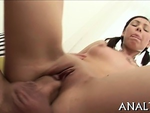 Wild anal pumping for alluring sweetheart