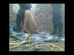 Desi Village Aunty Sucks and Fucks 2 security men Outside - xHamster com free