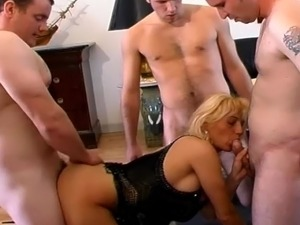 free gang bang wife videos