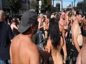 blindfolded girl tricked into public nudity