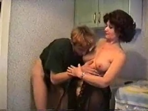 Sex scene in kitchen
