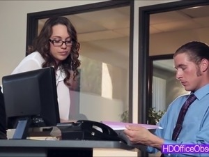 Watch Horny babe Jade Nile seducing her boss and gets f