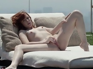 luxury redhead opening vagina outside