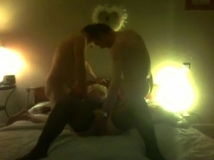 threesome begins!!!! my mature bitch cuckold