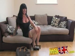 FakeAgentUK Tight pussy pornstar causes agent issues in fake casting free