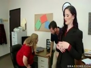 Hot girls in the office