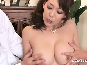 Asian Girl In Stockings Threesome Pussy Lick And Blowjob