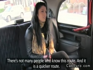Natural busty amateur fucking in fake taxi free