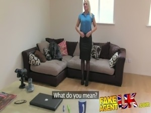 FakeAgentUK Hot British chick doubts agent in hardcore casting free
