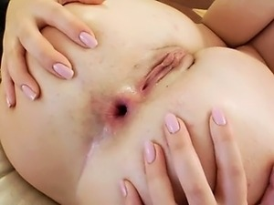 closeup video of penis entering anus