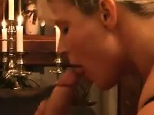 European MILF Sucking Cock