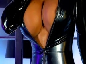 latex black ass