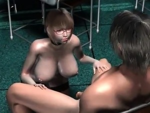 Big titted hentai cutie cunt fucked hard gets hot creampie