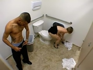 Sex scene in toilet