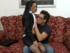 glamour secretary video sex force