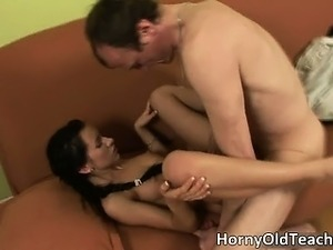Sexy brunette babe gets banged hard part4