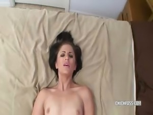 Brunette coed Charl is getting fucked