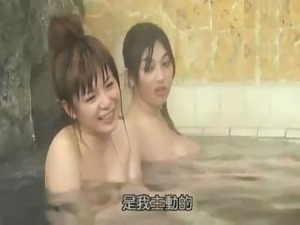 Bathing nude girls