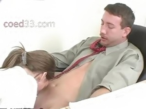 teacher eating students pussy in class