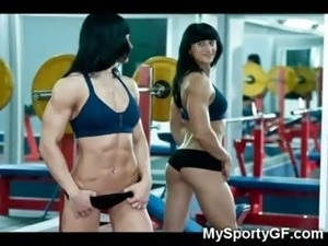 Hot girls at gym