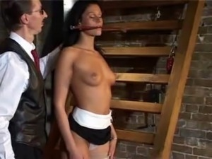 slavegirl spanked blowjob